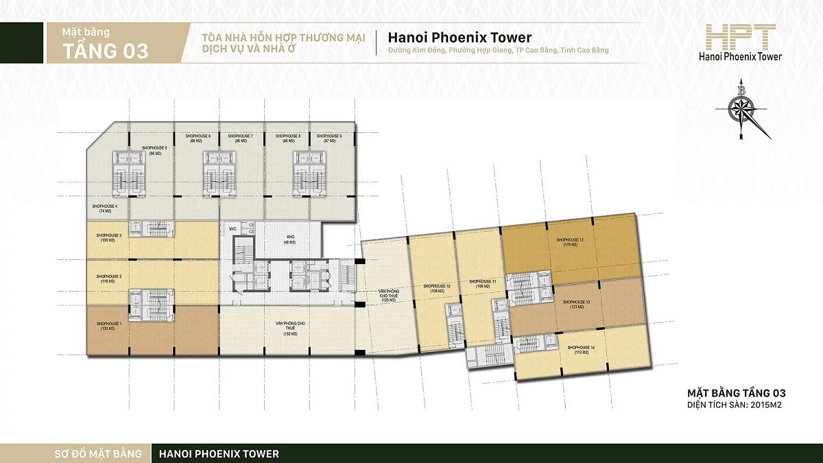 mặt-bằng-tầng-3-shophouse-hanoi-phoenix-tower-cao-bằng